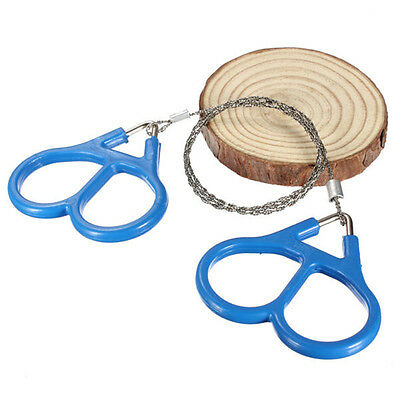 Hot Outdoor Steel Wire Saw Scroll Emergency Travel Camping Hiking Survival Tool