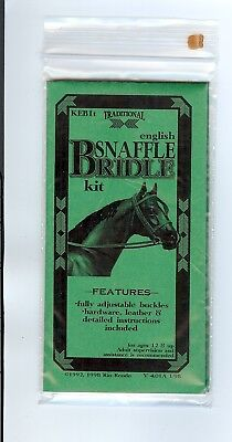 Rio Rondo English Snaffle Bridle Kit for 1:9 scale Breyer horse RUST leather
