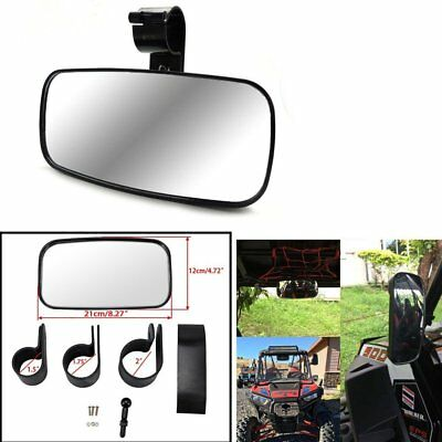 Black Center Mirror Large Adjustable Wide Rear Clear View Fit for Universal UTV