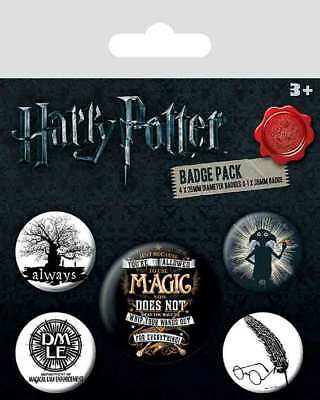 Button Badge 5er Pack HARRY POTTER - Symbols - Magic 1x38mm & 4x25mm BP80567