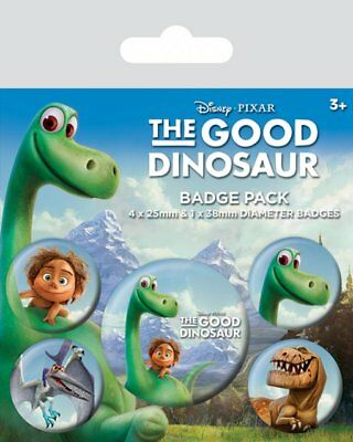 Button Badge 5er Pack THE GOOD DINOSAUR - Arlo & Spot 1x38mm & 4x25mm BP80515