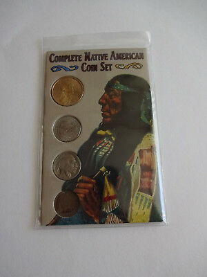 Sealed Complete Native American Coin Set Penny Nickels Dollar Indian 2004