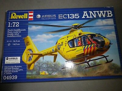 Revell Bausatz Nr. 04939, 1/72 Hubschrauber: EC135 ANWB Airbus Helicopters neu