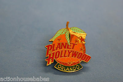 Planet Hollywood Orlando Collectable Label/hat/souvenir Pin - Flordia Orange