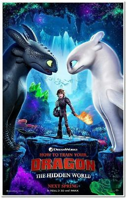 HOW TO TRAIN YOUR DRAGON 3 - 2019 - Orig 27x40 ADV Movie Poster - KRISTEN WIIG