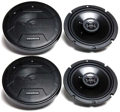 "(4) New! Hifonics ZS65CXS 6.5"" 1200 Watt Shallow Mount Car Audio Stereo Speakers"