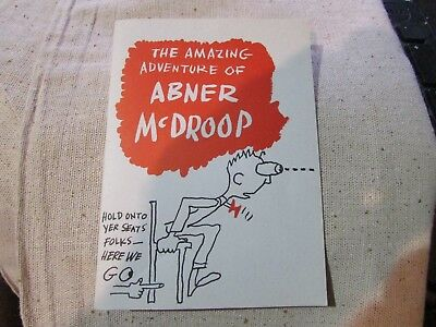 ABNER McDROOP The Amazing Adventure COMIC BOOK advertising WONDER BREAD NOS