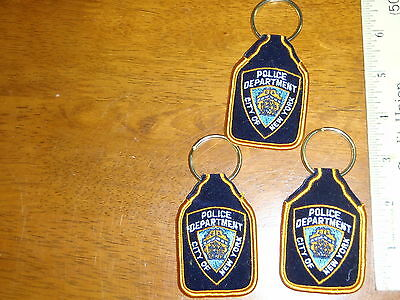 New York City Poice Department Key Chain Police Patch Key Chains