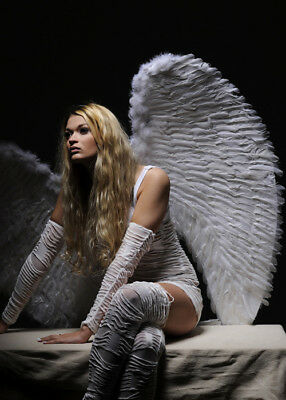 Extra Large Angel White Feather Wings