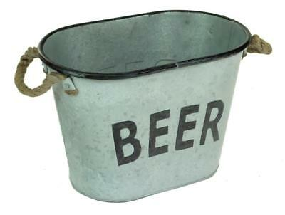 Oval Galvanised Metal Cool Beer Bottle Ice Bucket Tub Cooler
