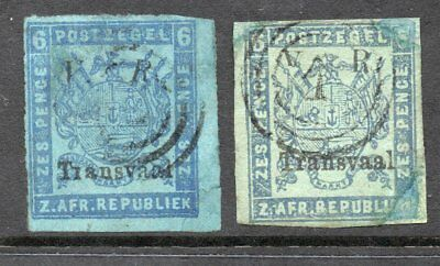 TRANSVAAL  1877  6d  TWO EXAMPLES