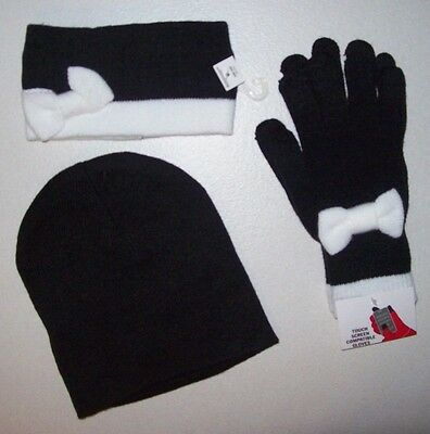 Girls Youth Jrs Nwt Beanie Headband Gloves Lot Winter Fall Back To School Touch