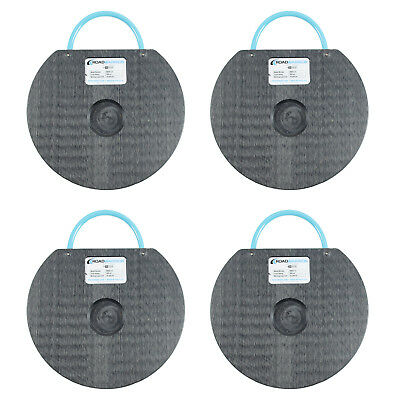 """4 Pack of 12"""" Outrigger Pads for Boom Lifts 25,000 Lb Load Limit Per Pad"""