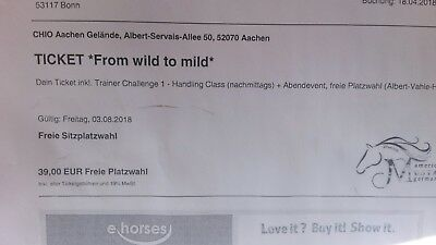 From wild to mild CHIO Aachen Ticket 3.8.2018 Mustang Makeover
