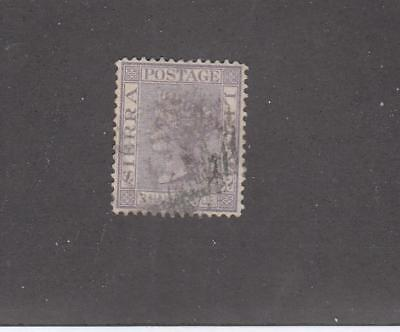 SIERRA LEONE # 13 1 1/2p  QUEEN VICTORIA VIOLET WITH CANCEL
