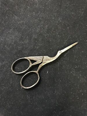 Pair of Vintage Small Bird Shaped Sewing Scissors