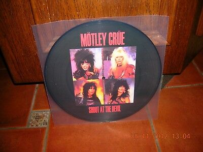 Motley Crue - Shout At The Devil Lp Picture Disc Ultrarare & Great Collector !!!