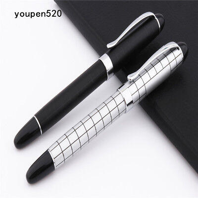 New Baoer 79 White black line Student school office Medium Nib Rollerball Pen