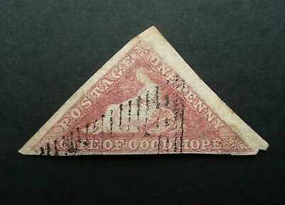 Cape Of Good Hope Triangle One Penny Rose Stamp - Used - Nice Margins - See!