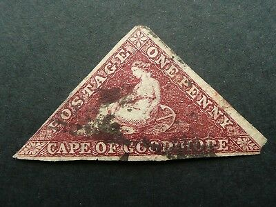 Cape Of Good Hope Triangle One Penny Rose Stamp - Used - See!