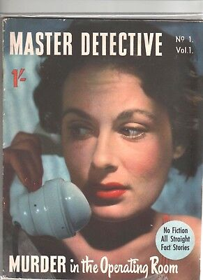 MASTER DETECTIVE MAGAZINE   # 1 1950s      FIRST ISSUE
