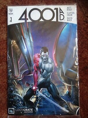 4001 Ad Valiant #1  Lootcrate Exclusive  Comic New Still Sealed See Photos