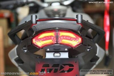 2010-2014 Ducati Multistrada 1200 SEQUENTIAL Turn Signals LED Tail Light SMOKE