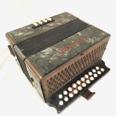 Vintage Old Hohner Squeeze Box Accordion