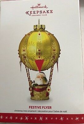 Hallmark Keepsake Ornament Festive Flyer (Santa in Balloon)