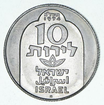 Roughly Half Dollar Size - 1974 Israel 10 Lirot - World Silver Coin 20.0g *345