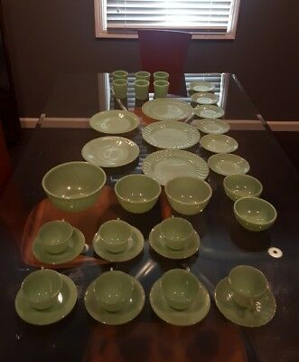 Vintage Fire-King Jadeite 36 piece lot