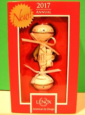 LENOX 2017 BABY's 1st CHRISTMAS RATTLE ORNAMENT - NEW in BOX