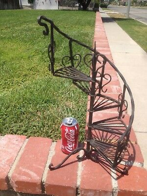 Vintage Spiral Wrought Iron Plant Stand  Salesman Sample ?? Rare!!!