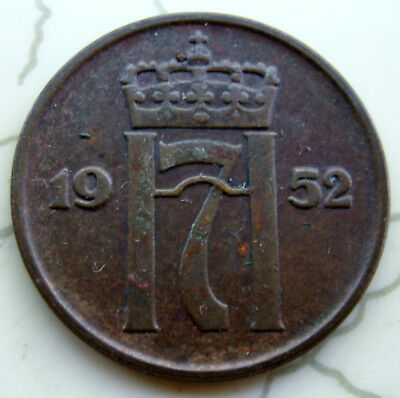 Coin Norway 5 Ore  1952 Unc 1542