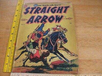 Straight Arrow #2 comic book VG 1950 Western VINTAGE Red Hawk 1st app