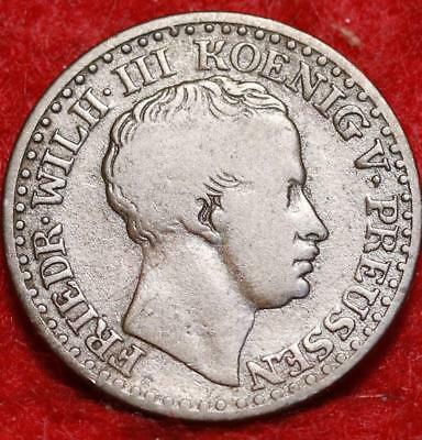 1835-A Germany Prussia 1 Silber Groschen Foreign Coin