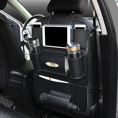 Universal Car Seat Back Bag Folding Organizer Bags Pad Drink Storage Pocket