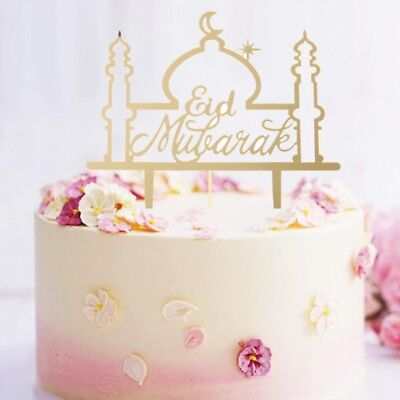 Eid Mubarak Ramadan Wedding Party Cake Topper Muslim Islam Cupcake Decor
