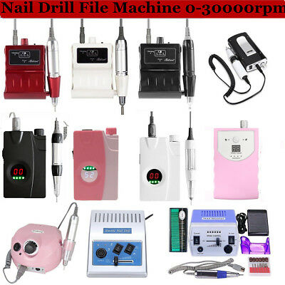 Pro Electric Nail Art Drill File Rechargeable Manicure Pedicure Machine Tool