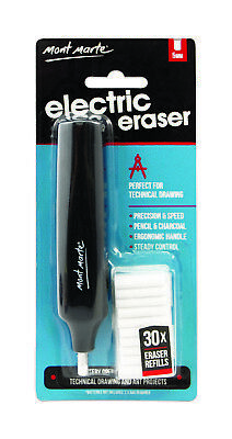Mont Marte Electric Eraser with 30pce Eraser Attachments