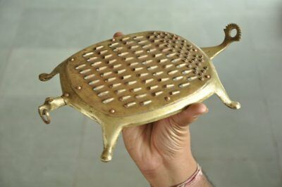 Old Brass Tortoise Shape Unique Handcrafted Grater/ Kitchenware