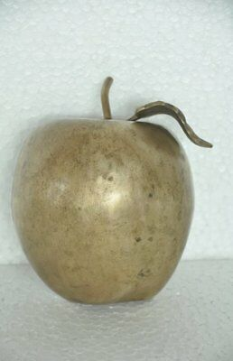 Old Brass Handcrafted Unique Apple Shape Decorative Paper Weight
