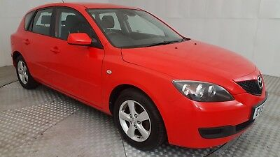2007 RED MAZDA 3 TS AUTO 4 SPEED AUTOMATIC 1596cc 1.6 5 DOOR HATCHBACK
