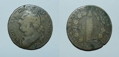 FRANCE :  LOUIS XVI - 1792 - 12 deniers - COIN OF THE FRENCH REVOLUTION -