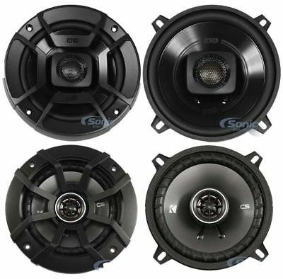 "Polk Audio DB522 DB+ 600W 5.25"" Marine/UTV + Kicker 43CSC54 450W 5.25"" Speakers"