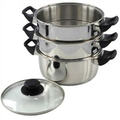 Pendeford Stainless Steel Collection 3 Tier Steamer, 20cm