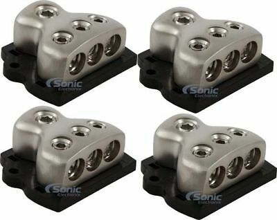 Rockford Fosgate RFD4 1 Input 3 Output Car Audio Solid Brass Distribution Block