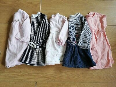 Lovely Baby Girls Next Bundle 5 x Dresses 3-6 Months