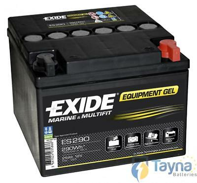 ES290 Exide Equipment Marine and Multifit Gel Batterie Camping Bateau 25Ah