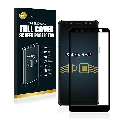 Full Cover Samsung Galaxy A8 (2018) 9H Tempered Glass Screen Protector Film